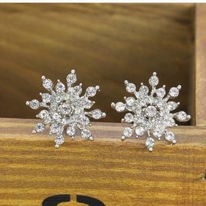 Jewelry - Sparkly Snowflake Earrings